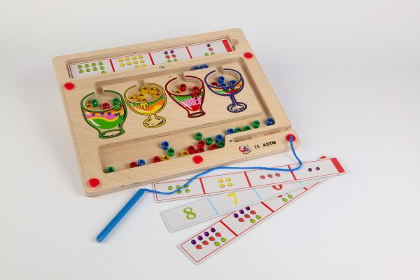 Diamond Counting - a wooden magnetic game to help with early numeracy